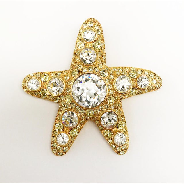 Modern Starfish Brooch by Kenneth Jay Lane For Sale - Image 3 of 5