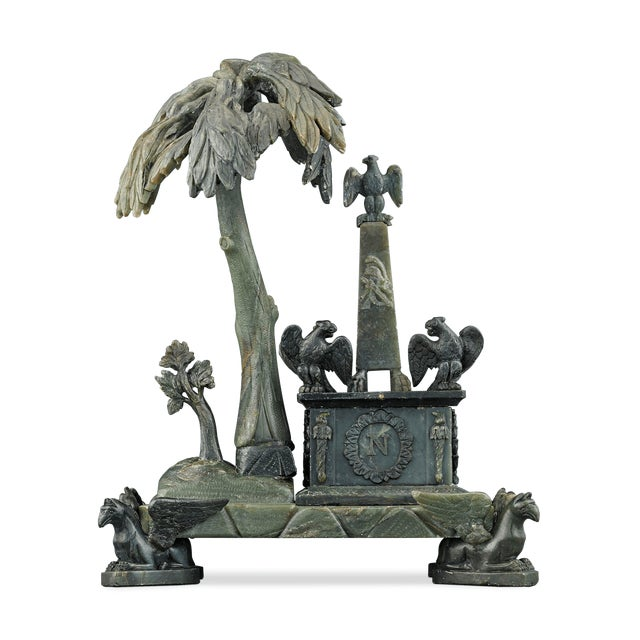 Skillfully crafted of carved nephrite, this one-of-a-kind sculpture is a fantastical recreation of the tomb of Napoleon on...
