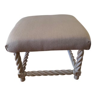 1960s Vintage Grey Ottoman For Sale
