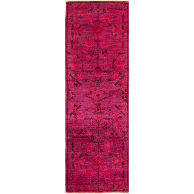"Vibrance Hand Knotted Runner Rug - 2' 6"" x 7' 8"" - Image 4 of 4"