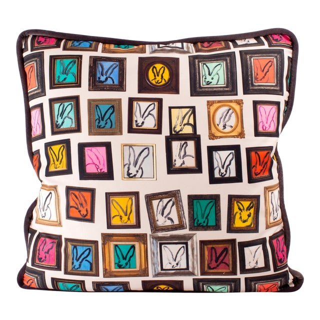 Hunt Slonem Hunt's Studio Cotton Pillow Cover For Sale