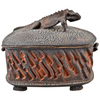 Charles Gluskoter Art Pottery Lidded Box, Usa 1987 For Sale