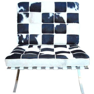 Barcelona Mid Century Cowhide Chair