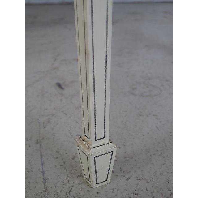 Adam Style Paint Decorated Demi-lune Console Table For Sale - Image 9 of 11