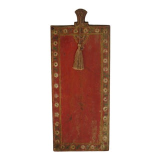 Asian Painted Wooden Document Board For Sale