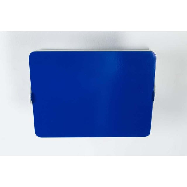 Charlotte Perriand Blue 'Applique á Volet Pivotant' Wall Lights - a Pair For Sale In Los Angeles - Image 6 of 12
