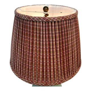 Brunshwig Dark Red Plaid Paul Ferrante Custom Shade For Sale