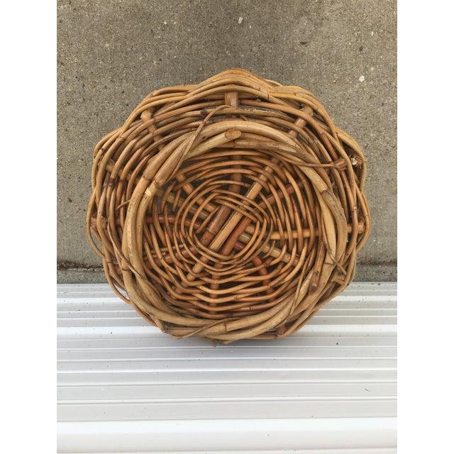 Vintage Wicker Storage Basket For Sale - Image 4 of 6