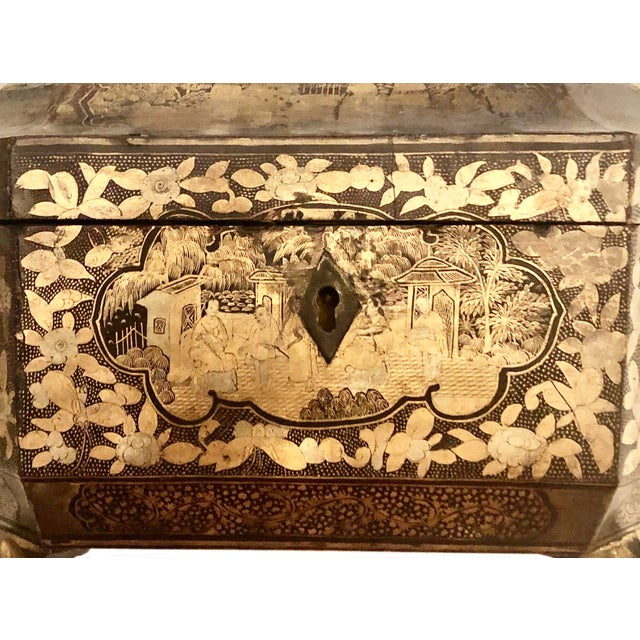 19th Century 19th Century Chinese Tea Box For Sale - Image 5 of 11