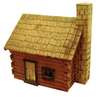 Charming Folk Art Model of Log Cabin For Sale