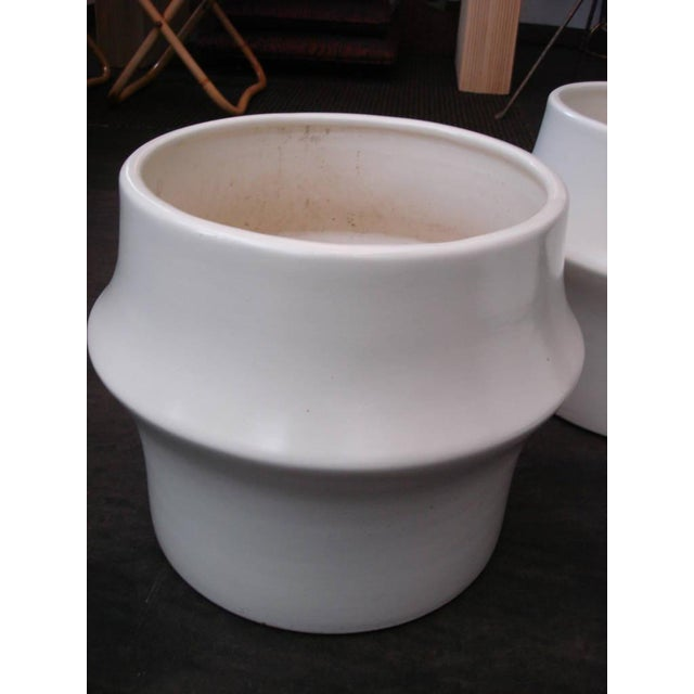 Oversized Modernist Heavy Ceramic Planters, Three Available - Image 4 of 5
