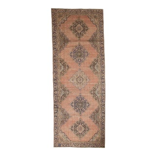 "Vintage Distressed Sparta Rug Runner - 4'4"" x 11'9"" For Sale"