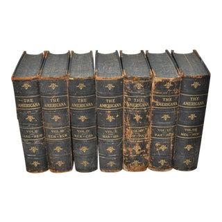 "C.1910 ""The Americana"" Books - Set of 7"