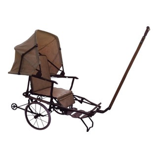 Vintage Canvas Child's Buggy For Sale