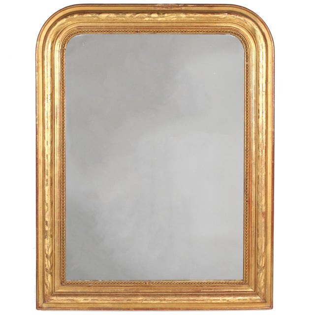 19th Century French Louis Philippe Gilt Mirror With Floral Design For Sale - Image 11 of 11