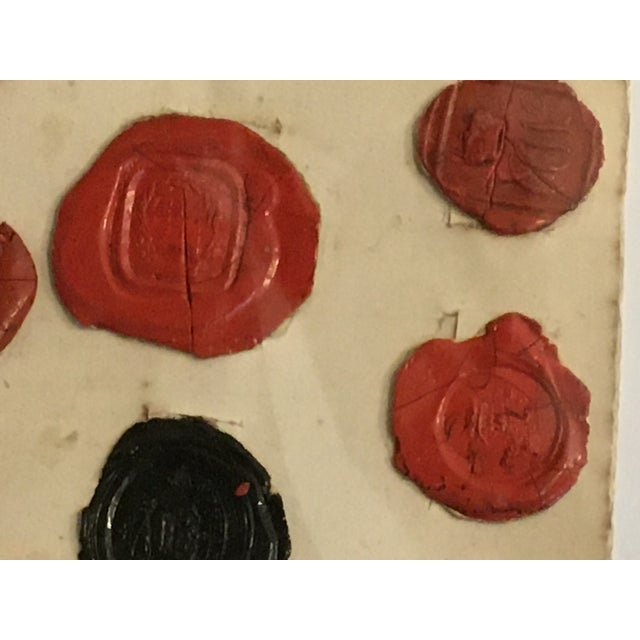 Wax Antique English 29 Red and Black Intaglios Wax Seals For Sale - Image 7 of 12