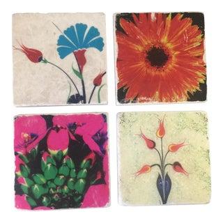 Modernist Flower Coaster Set - Set of 4