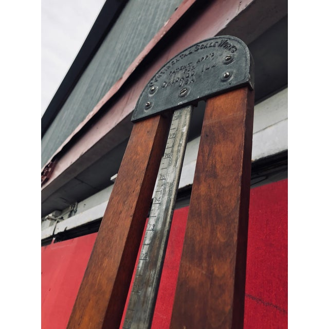 Metal Antique 20th Century Wood & Iron Stadometer For Sale - Image 7 of 12