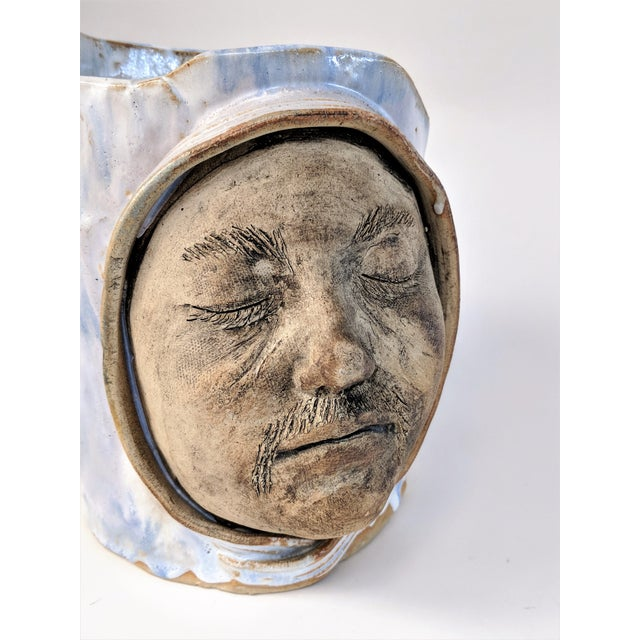 1970 Double Faced Pottery Planter For Sale In Miami - Image 6 of 10