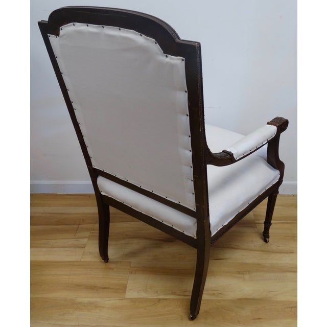 French Louis XVI Style Arm Chair - Image 4 of 4
