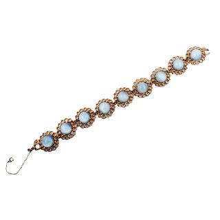 1950s Reja Faux-Blue Moonstone Bracelet For Sale