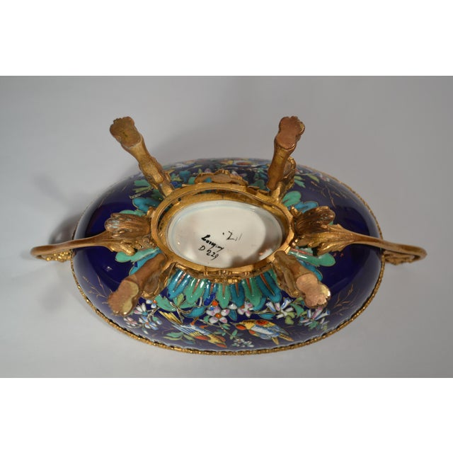 Late 19th Century Antique French Majolica Longwy Pottery Jardiniere circa 1890-1900 For Sale - Image 5 of 6