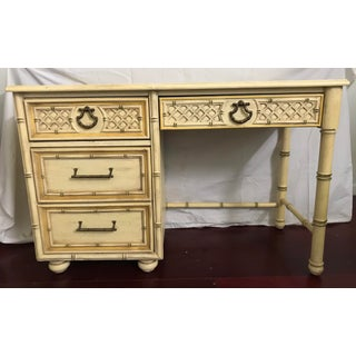Faux Bamboo Desk Hollywood Regency Original Finish Preview