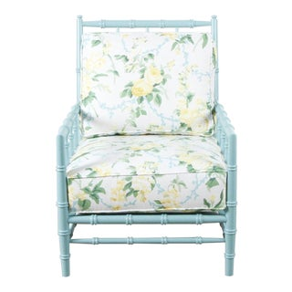 Green Floral Cottonwood Chair