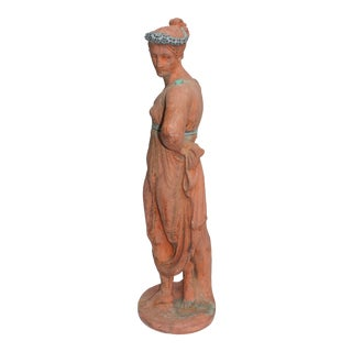 Mid 19th Century Antique English Signed Garden Statue For Sale