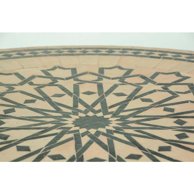 Moroccan Mosaic Tile Table in Fez Moorish Design For Sale - Image 10 of 11