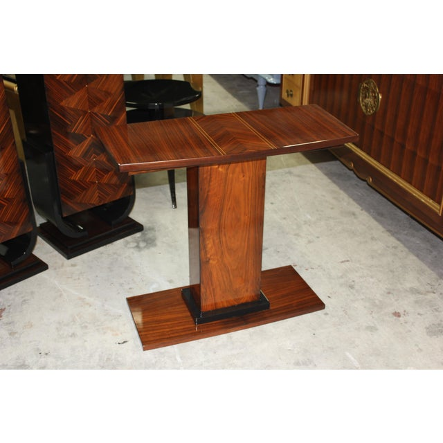 French Art Deco Palisander Console Table - Image 7 of 10