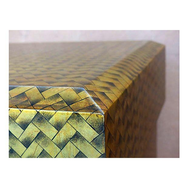 Gold Lacquered Covered Trunk - Image 7 of 11