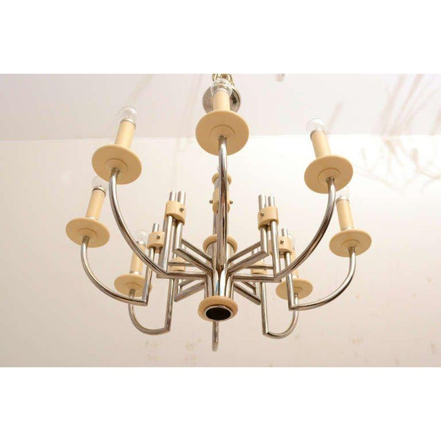 Mid Century Modern Bakelite Chrome-Plated Chandelier For Sale In San Diego - Image 6 of 10