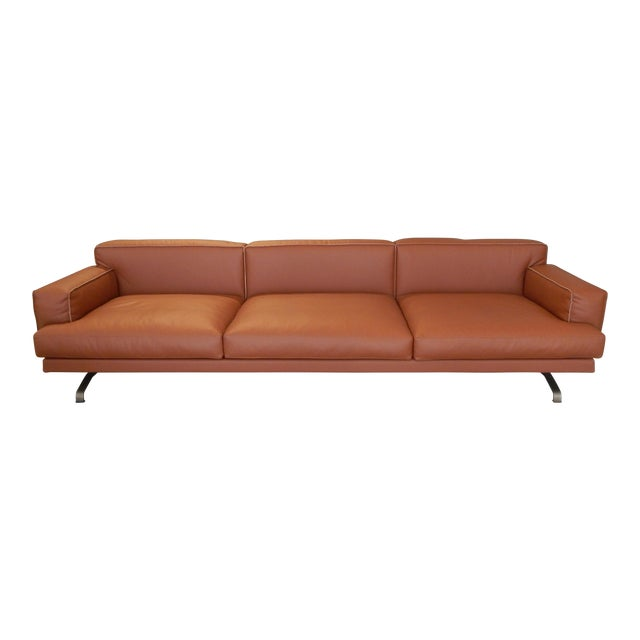 Gordon Guillaumier Lema 'Mustique' Leather Sofa - Image 1 of 9