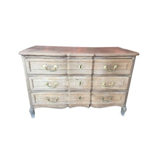 Late 18th Century French Bleached Oak Three Drawer Commode For Sale