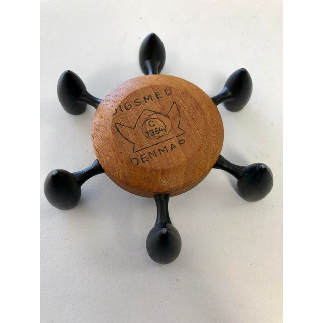 Vintage Danish Modern Jigsmed Teak Candle Holder For Sale - Image 4 of 5