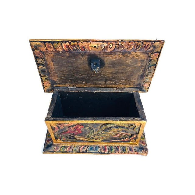 Vintage Balinese Alter Wood Carved Offering Box For Sale In Richmond - Image 6 of 13