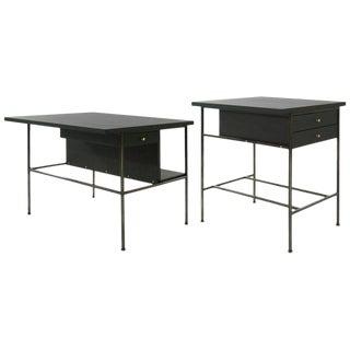 1950s Paul McCobb Bronze End Tables - a Pair For Sale