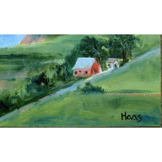 Signed Haas. Original oil painting. This little painting is of a barn along Highway One in Irish Beach, CA. 6 x 8 on...