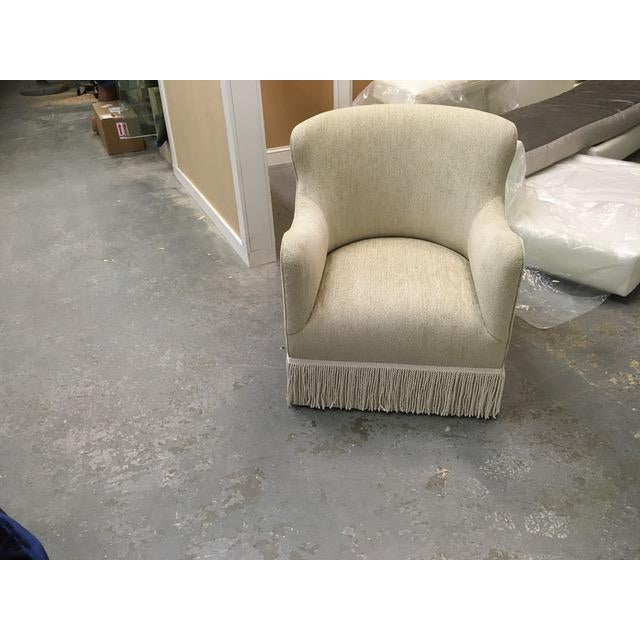 2020s Custom Upholstered Wingback Armchair For Sale - Image 5 of 5
