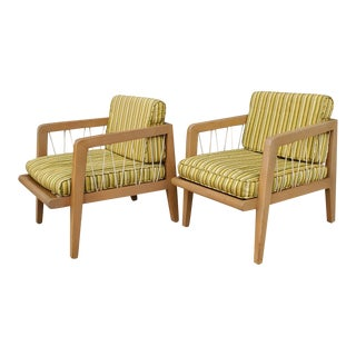 """Vintage Edward Wormley for Drexel """"Precedent"""" Lounge Chairs - 2 Pieces For Sale"""