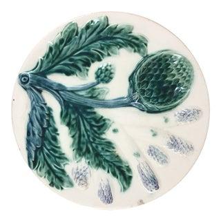 Majolica Asparagus & Artichoke Plate