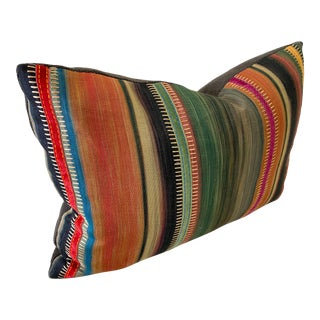 G P & J Baker and Pierre Frey Striped Linen Pillow For Sale