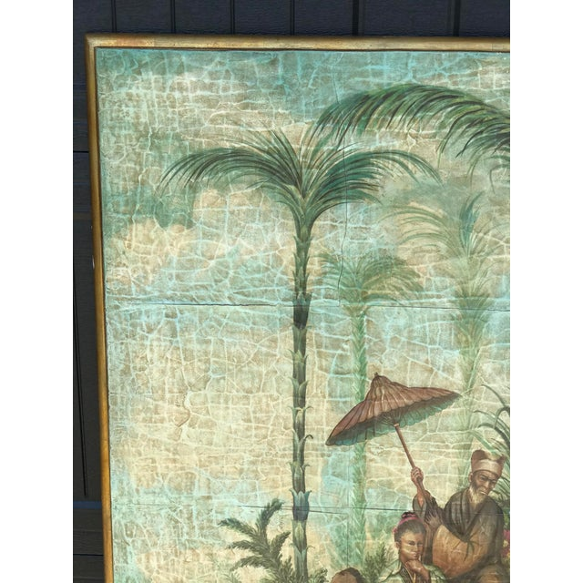 Chinoiserie Decoupaged Wall Hanging For Sale - Image 4 of 13