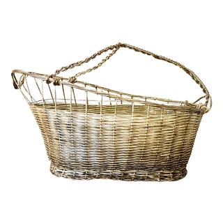 Antique French Silver Wire Wine Caddy For Sale