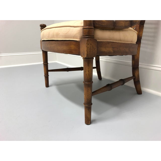 Vintage Mid Century Faux Bamboo Caned Lounge Chair For Sale - Image 10 of 12