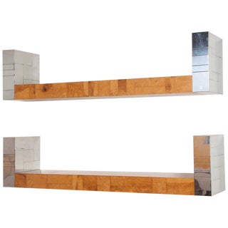 Pair of Paul Evans Cityscape Bookshelves For Sale