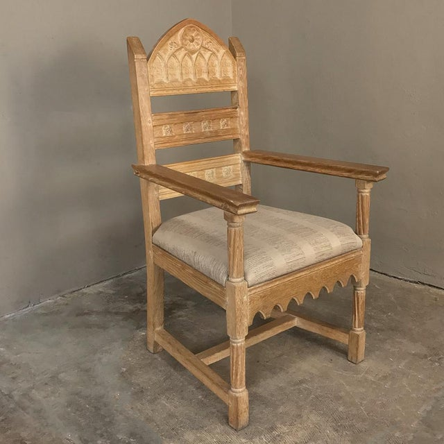 Set of 8 Antique Gothic Dining Chairs Includes 2 Armchairs For Sale - Image 11 of 13