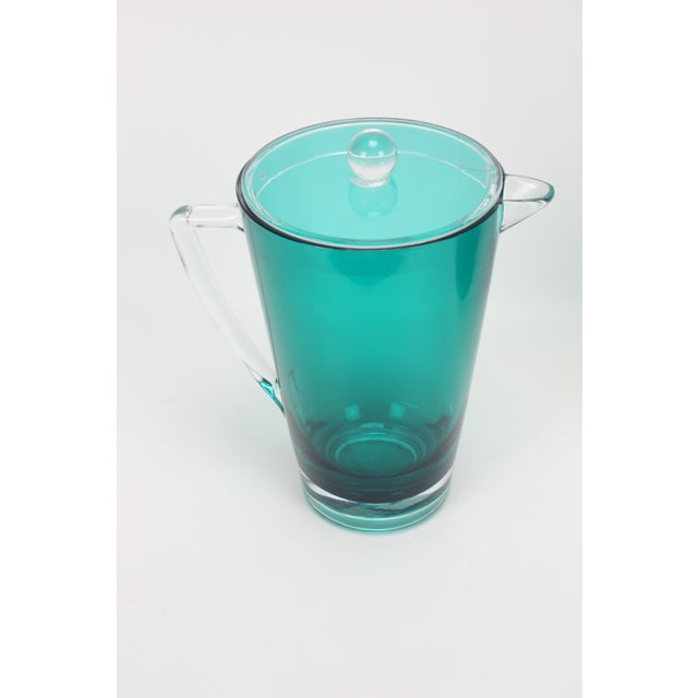 Vintage Lucite Ice Bucket & Pitcher, Green/Clear For Sale - Image 5 of 5