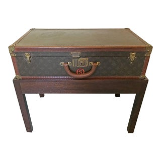 Louis Vuitton Steamer Trunk on Stand, Medium